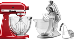 KitchenAid 5 qt. Stand Mixer with Glass Bowl & Flex Edge Beater Only $184.99 (Regular $349.99)