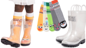 Clear Muk Luks Molly Waterproof Rain Boots with 5 Pairs of Socks Only $24.99 (Regular $48)