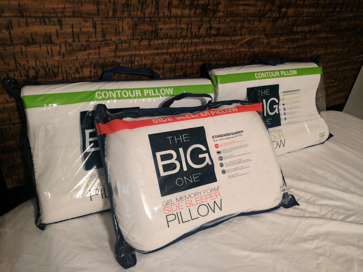 the big one gel memory foam pillows as low as regular. Black Bedroom Furniture Sets. Home Design Ideas