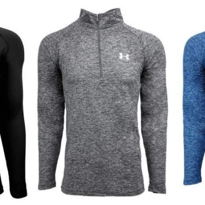 Under Armour Men's UA Tech 1/2 Zip Pullovers 50% Off when you buy three!