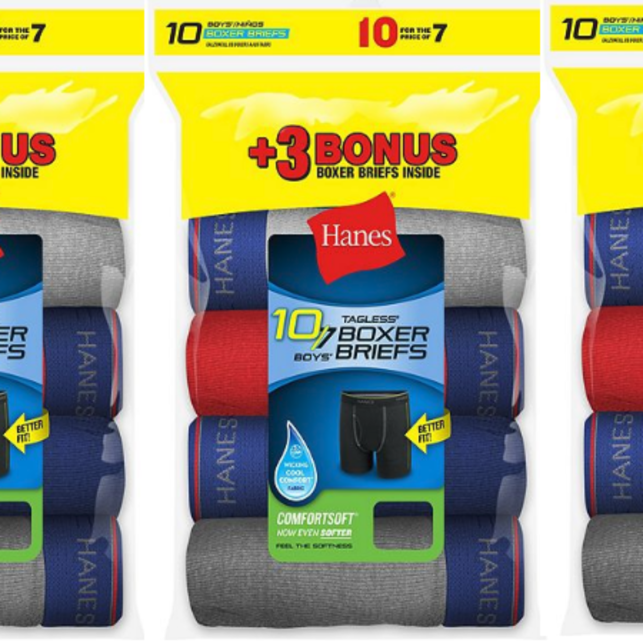 20 Pairs of Hanes Boys' Cool Comfort Boxer Briefs with Comfort Flex Waistband Only $11.20 Shipped (Regular $28)