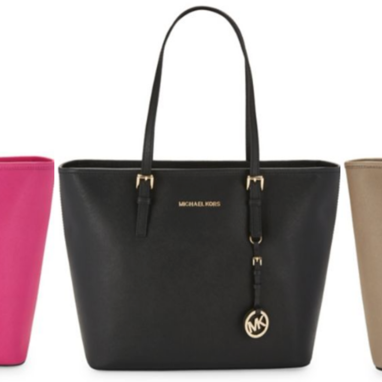 MICHAEL KORS Top-Zip Leather Tote $111.20 (Regular $278)