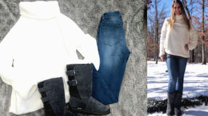 Dixie's Deal #OOTD – Sherpa Sweater, Pull On Jeans and Boots!
