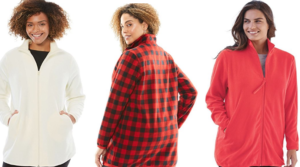 Women Within Women's Plus Size Microfleece Jacket as low as $13.59 (Regular $45.27) – Available in Medium – 6X