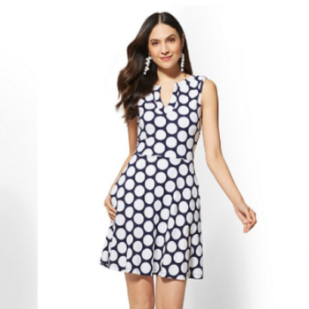 61bfceb9c New York & Company Cotton Fit & Flare Dresses Only $10!
