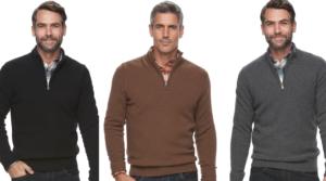Men's Croft & Barrow True Comfort Classic-Fit Quarter-Zip Sweater as low as $8.75 (Regular $50)