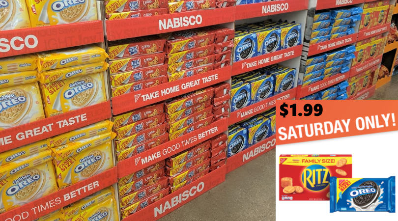 nabisco family size cookies crackers only 1 99 with kroger 5x