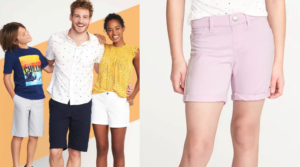 Old Navy Shorts: 50% Off Shorts for the Whole Family!