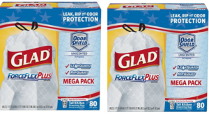 Prime Members: 80 ct. Glad ForceFlexPlus Tall Kitchen Drawstring Trash Bags as low as $9.25