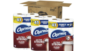 Charmin Ultra Strong Toilet Paper 24 Family Mega Rolls as low as $22.49!