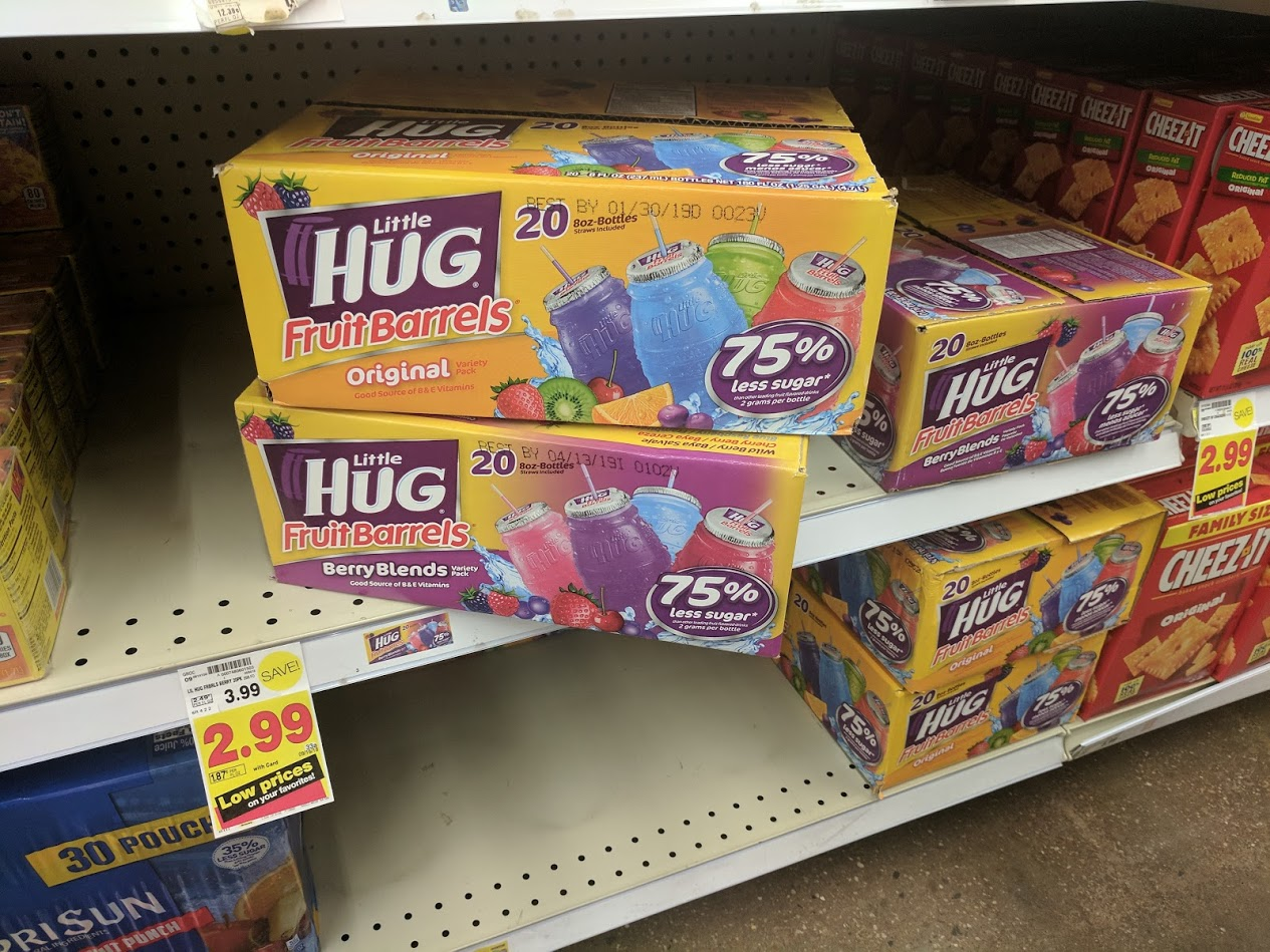 Buy Here Pay Here Ct >> Little Hug Fruit Barrels 20 ct. Box Only $1.99 at Kroger ...