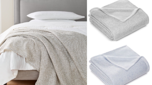Martha Stewart Heathered Sweater Fleece Blankets Only $9.96 (Regular $80)!