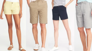 Old Navy Shorts for Men and Women Only $10 Today Only!