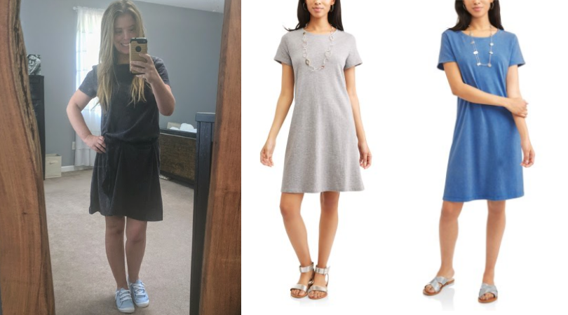 f5949bc4c4 I tried the $10 Time and Tru T-Shirt Dress from Walmart and here's ...