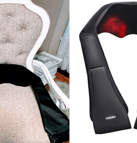 Naipo Shiatsu Back and Neck Massager with Heat Deep Kneading Massage Deal!