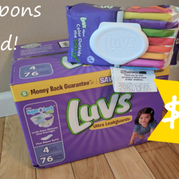 One Box Of Luvs Diapers And Pack Wipes Only 10 At Dollar General No Coupons Required