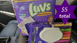One Pack of Luvs Diapers & One Pack of Luvs Wipes Only $5 with Dollar General Digital Coupons!