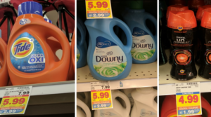Tide or Gain Detergent and BIG Bottles of Downy Only $2.99 with Kroger 5X Digital Coupon (Regular $7.99)!