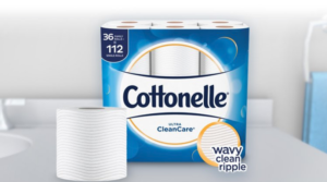 New $4 Off Cottonelle Ultra CleanCare Toilet Paper 36 Family Rolls+