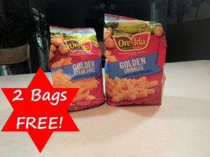 Two FREE Bags of Ore-Ida French Fries – Walmart, Kroger, Target & Lots more!