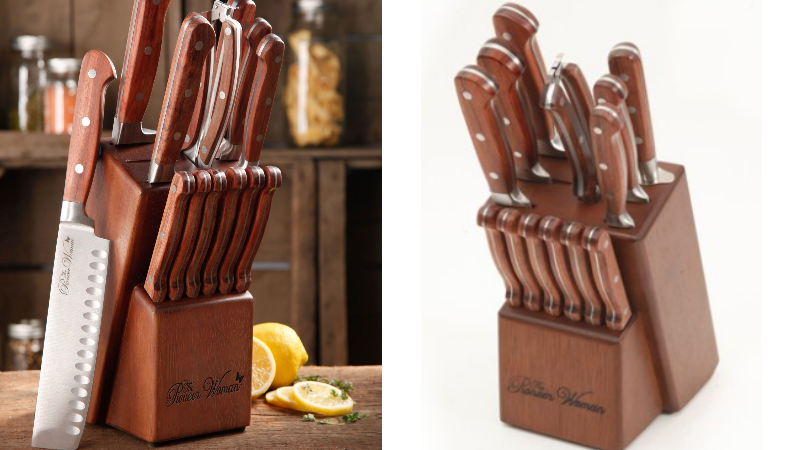 14 Pc Pioneer Woman Rustic Knife Block Set Only 37 94