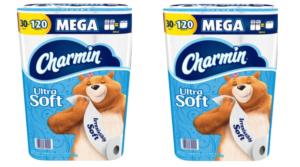 Sam's Club Charmin Ultra Soft Toilet Paper 30 Mega Rolls (120 Regular Rolls) – Only $18.98