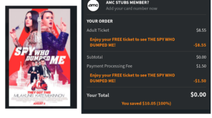 The Spy Who Dumped Me – Free Movie Ticket with Atom App!
