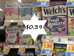 Welch's Fruit Snacks Only $0.39 at Kroger Mega Sale – New Coupon!