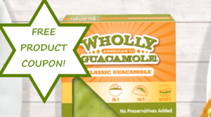 Request a Coupon for a FREE Wholly Guacamole ($5.99 Value)!