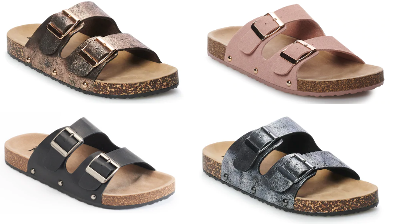 c99373f5a5d Mudd Women s Double Buckle Slide Sandals Only  6.72 Shipped (Regular  24) –  Kohl s Cardholders!