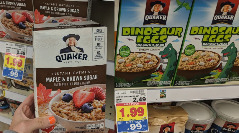 Quaker 10 Ct Oatmeal Boxes Only 0 99 At Kroger No