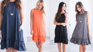 Landry Ruffle Bottom Dress Only $12.99 Shipped (Regular $39.99) – Sizes Small – 3X