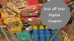 Possible $10 off $50 Kroger Digital Coupon!