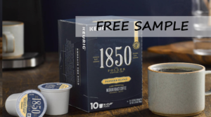 Request a Free Sample of 1850 Coffee or K-Cups!