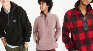 Abercrombie & Fitch Sherpa Hoodies, Pullovers & Jackets Only $29 (Regular up to $88)!