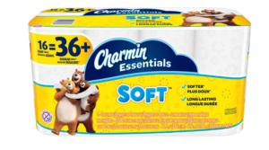 Charmin Essentials Bathroom Tissue 16 Giant Rolls (equals 36 regular rolls) Only $6!