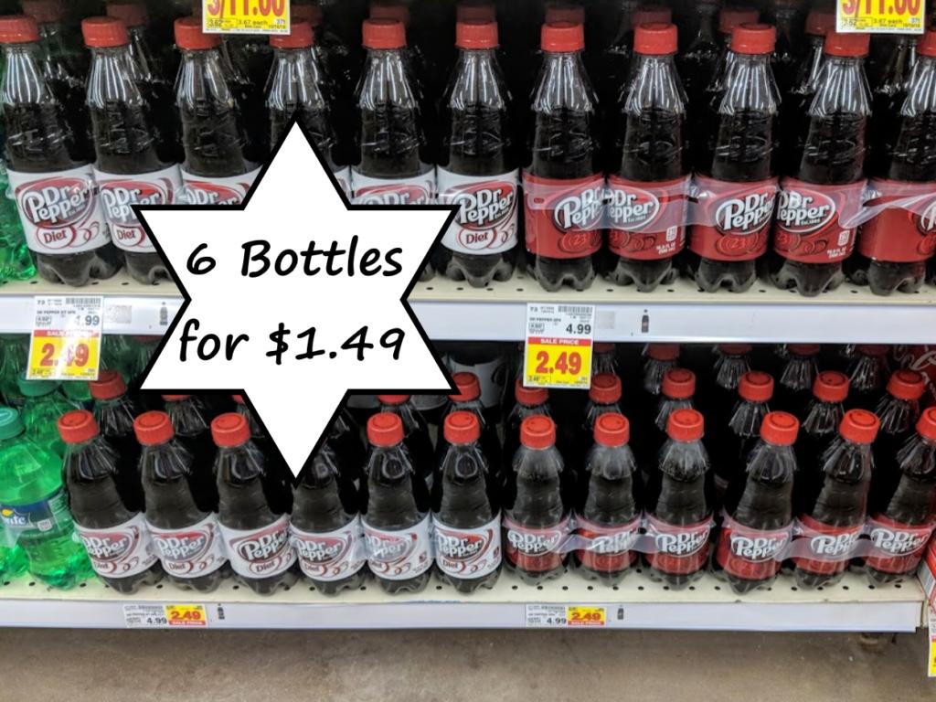 Dr Pepper or 7UP Brand 6 Pack Bottles Only $1 49 with Kroger
