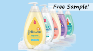 Free Sample of Johnson's New & Improved Baby