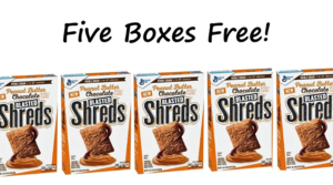 Five FREE Boxes of Peanut Butter Chocolate Blasted Shreds at Walmart – Just Use Your Phone!