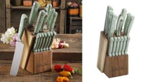 The Pioneer Woman Cowboy Rustic 14-Piece Cutlery Set w/ Wood Block Only $35.94 (Regular $59)