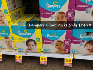 Pampers Giant Value Packs Only $24.99 at Kroger After Offers!