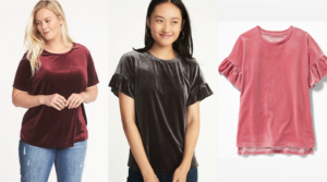 Old Navy Velvet Tops for Women & Girls Only $7-8 (Regular up to $25.99) in Sizes XS -4X! Today Only!