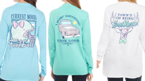 Benny & Belle Long Sleeve Tees Only $6.99 (Regular $36) – Sizes Small – 3X!