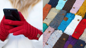 C.C Confetti & Metallic Touchscreen Gloves Only $13.99 Shipped (Regular $29.99)!