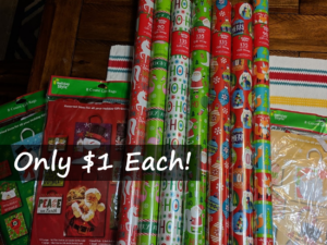 Gift Wrap 135 sq ft Only $1 (Regular $5) + Lots More at Dollar General!