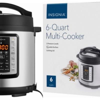 Insignia 6-Quart Multi-Function Pressure Cooker Only $24.99 (Regular $59.99)!