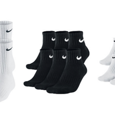 Men's Nike and adidas 6 Pack Socks Only $9.99 (Regular $20)!