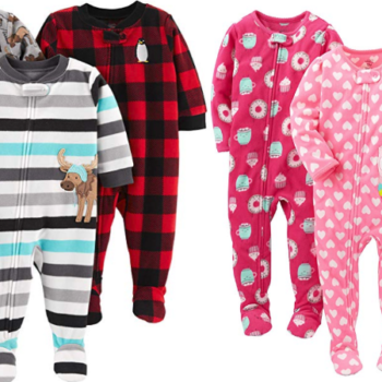 f69b6486b Simple Joys by Carter's Baby and Toddler Girls' 3-Pack Fleece Footed Pajamas  Only $14.99 (Regular $25.49) + More!