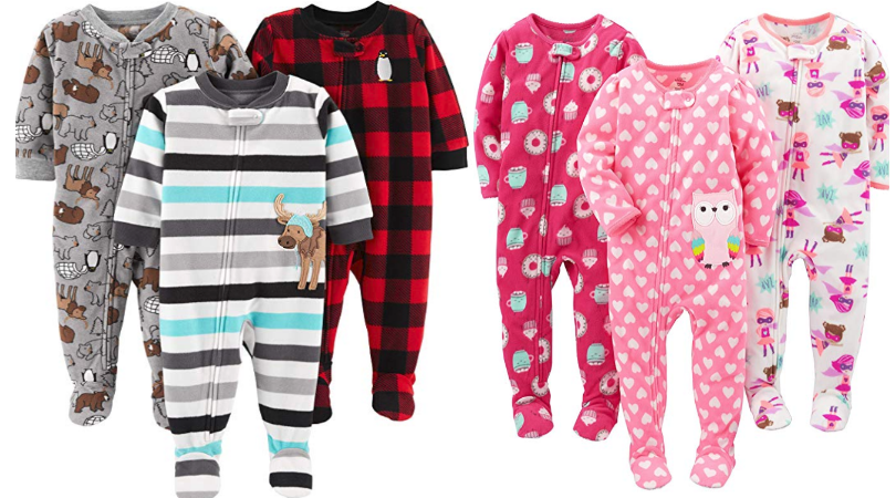 5832220303c0 Simple Joys by Carter's Baby and Toddler Girls' 3-Pack Fleece Footed Pajamas  Only $14.99 (Regular $25.49) + More!