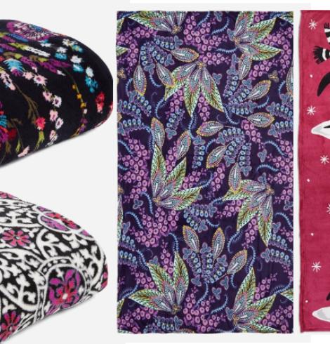 Vera Bradley Throw Blankets Only $15.40 (Regular $59)!
